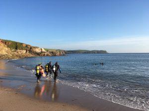 Shore diving at Thurlestone in Devon